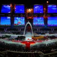 Opening Ceremony Asian Games XVII/2014 Di Incheon Korsel...Mewah....