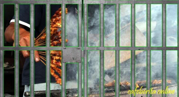 buruh kipas sate dipenjara