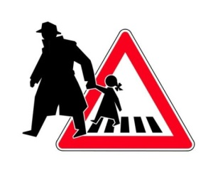 Child abduction, conceptual image