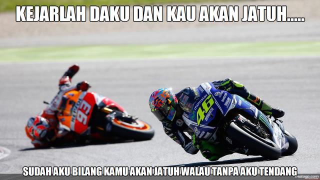 marquez crash Valentino Rossi