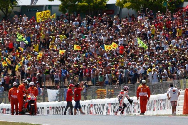 Marc Marquez Fans Valentino Rossi
