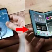 Samsung Galaxy X...Monitornya Bisa Dilipat Loh...