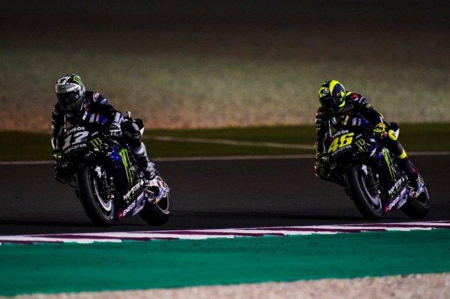 Valentino Rossi Maverick Vinales Qatar 2019